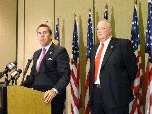 Sheriff BJ Barnes (right) endorsed Mark Walker for Congress.