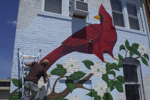 A new mural by Kendall Doub in High Point.