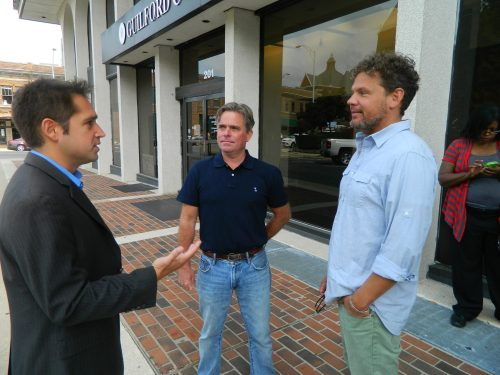 Chris Sgro from Equality NC speaks with Frank Brooks and Brad Newton