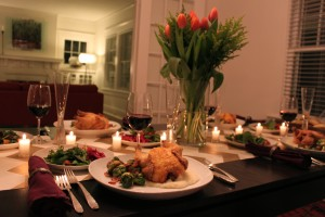 The Thompsons substitute other meat, such as Cornish game hens, for turkey.