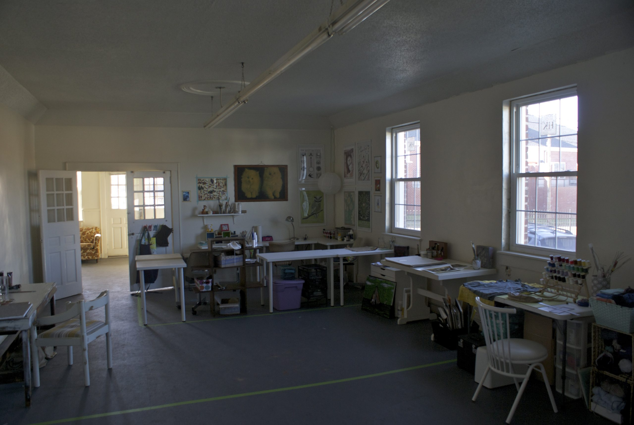 Electric Pyramid artists and an embalming room The NC Triads