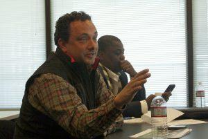 Matheny at the DGI board meeting