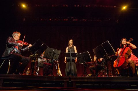 Giddens fronted the Kronos Quartet last week at Tennessee's Big Ears Festival.