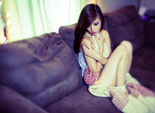 Model Victoria Elaine Singleton portrays a sex-trafficking victim.