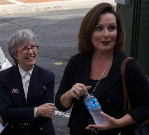 Councilwoman Nancy Hoffmann (left) and Mayor Nancy Vaughan
