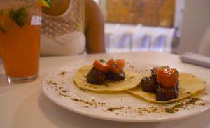 The pork-belly tacos