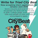 Triad City Beat seeks writing and reporting intern