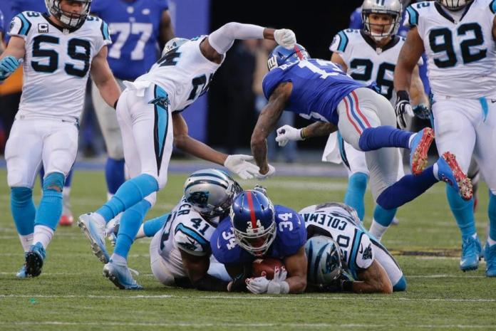 Josh Norman and Odell Beckham Jr. overshadow the game and show their asses. [courtesy Panthers.com]