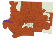 Besides a strong core of support in southern Winston-Salem, Hillary dominated the Forsyth County map.