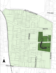 Ironically, the main map the city's Cedar St./Bellemeade area strategic plan didn't label either of the main streets.