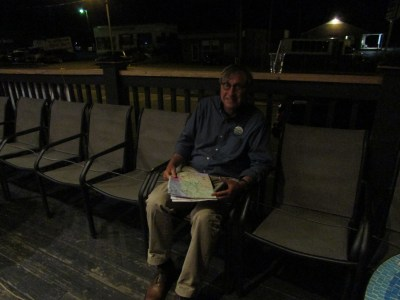 John Larson, relaxing outside Washington Perk