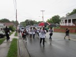 Energetic group marches against police killing of black men