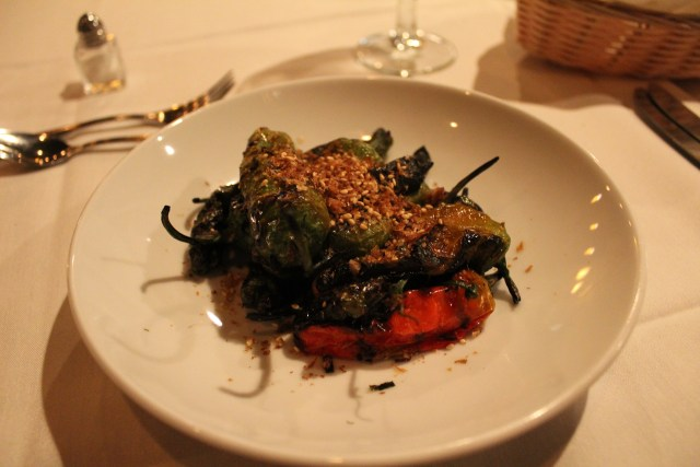 The Shishito peppers appetizer