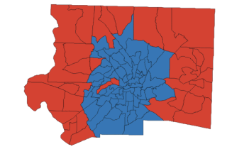 Forsyth County electoral map, 2016