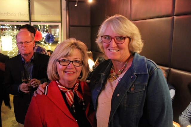 Democrat Darlene Garrett, left, won her reelection bid to the Guilford County School Board with support from Republican Linda Welborn, right, who ran unopposed.