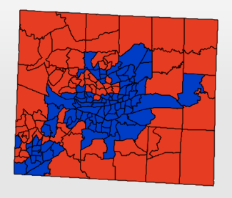 Guilford County electoral map, 2012