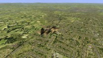 Flying over the London map.