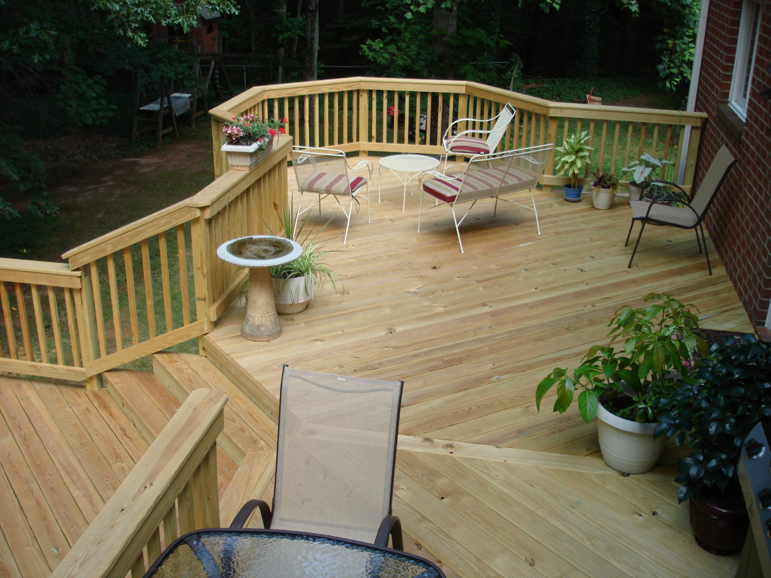 Create More Outdoor Living Area. Add a new deck, or redeck ... on Wood Deck Ideas For Backyard  id=29085