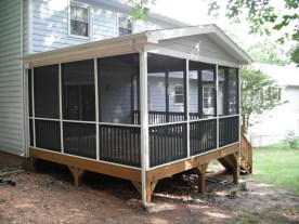 After Construction of Custom Screened Porch