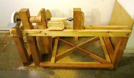 treadle lathe & grinder