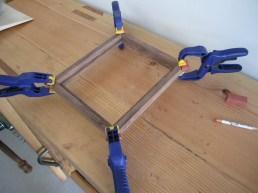 corner support glue up