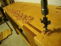 drilling round dog holes roubo