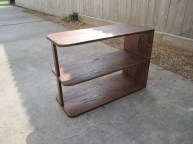 stained tv stand