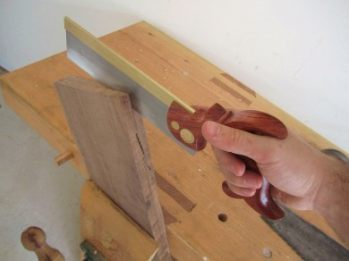 start corners with back saw