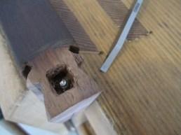 chisel mortise around screw