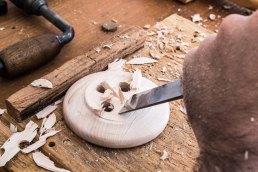 remove button tenon with chisel