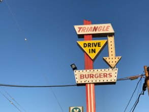 Triangle Drive In at 1310 W. Belmont, Fresno CA