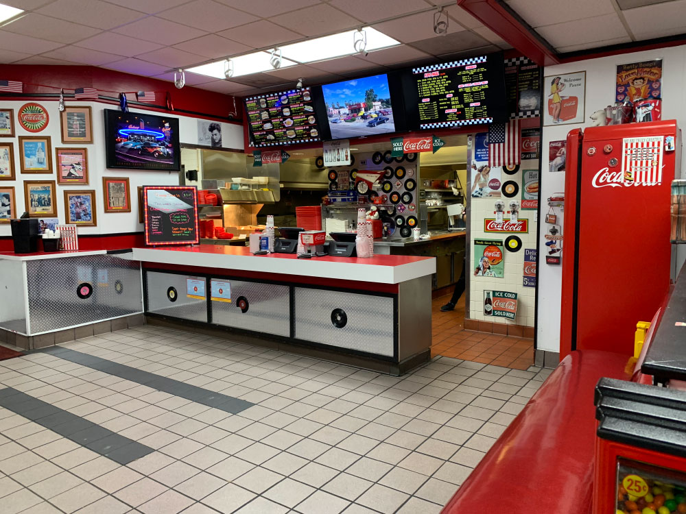 Best Burgers at Triangle Drive In on McKinley Ave in Fresno CA