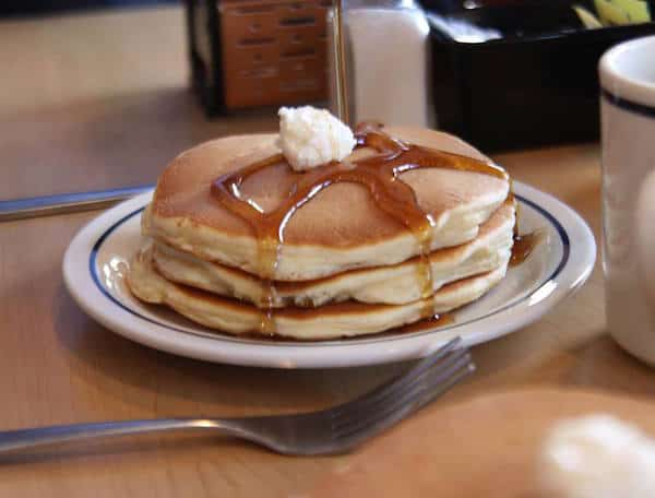 short stack of pancakes at ihop. They cost $1 on May 21