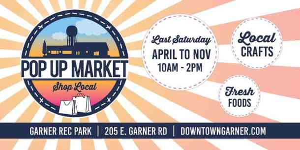 Downtown Garner Pop Up Market - Triangle on the Cheap