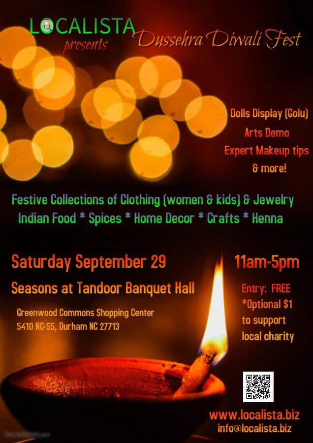 Localista S Dussehra Diwali Fest In Durham Triangle On The Cheap