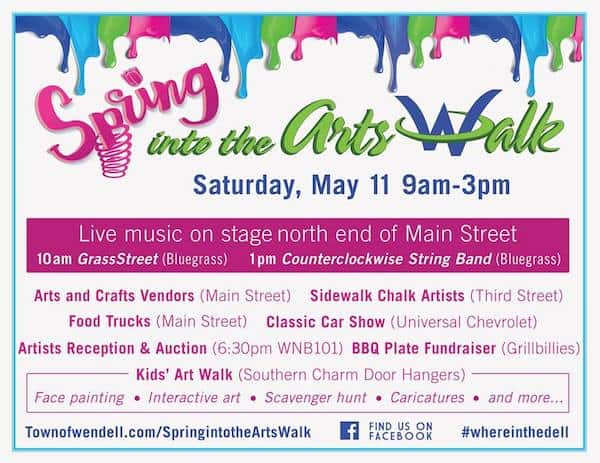 Spring into the Arts Walk in Wendell - Triangle on the Cheap
