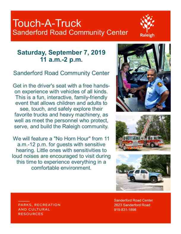 Touch-a-Truck at Sanderford Road (Raleigh) - Triangle on the