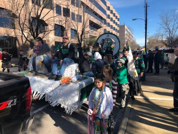 raleigh st patricks day parade float