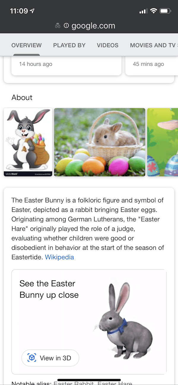 google 3d easter bunny search result