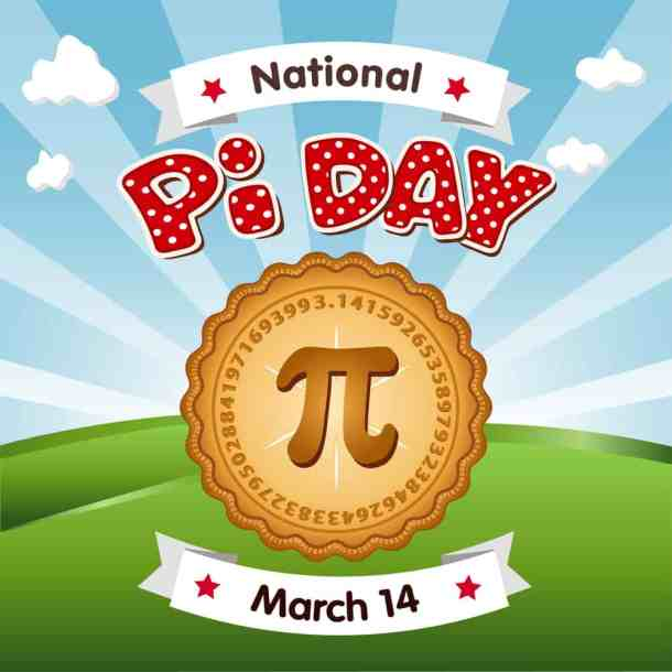 pi day graphic with pie