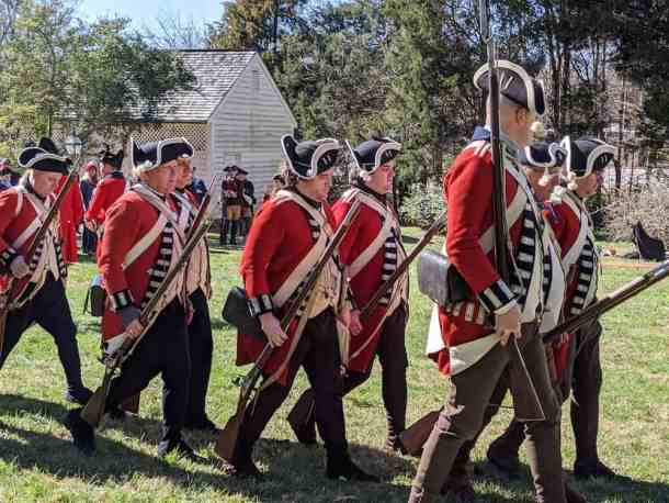 reenactors revolutionary war soldiers