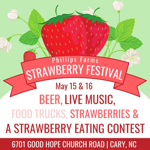 flyer for strawberry festival