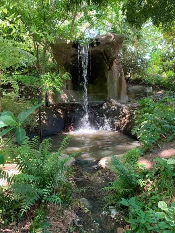Waterfall at Juniper Level Botanic Garden