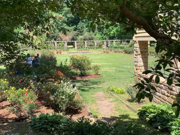 Visitors in Raleigh Rose Garden