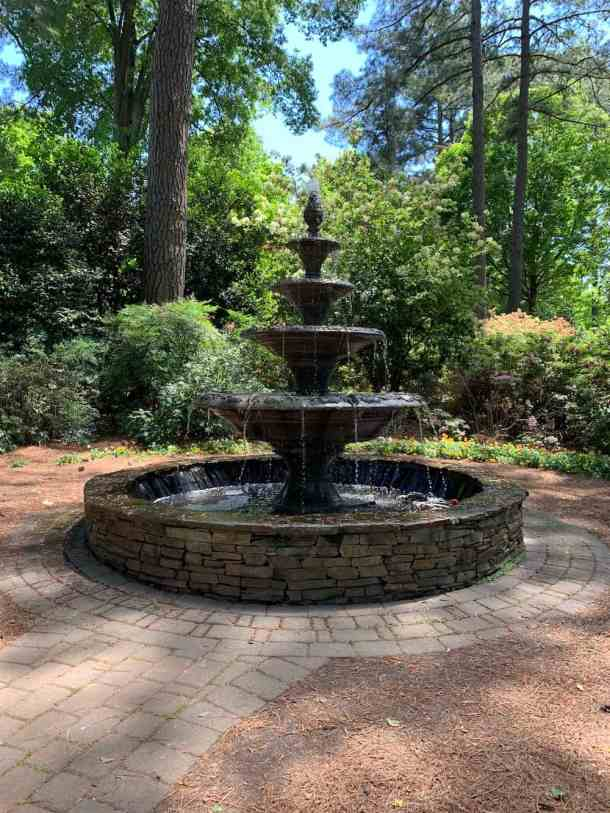 Four-tiered fountain at WRAL Azalea Gardens in Raleigh