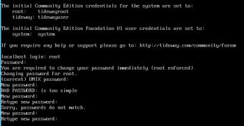 ADDM Root user change password