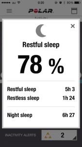 v800 sleeping