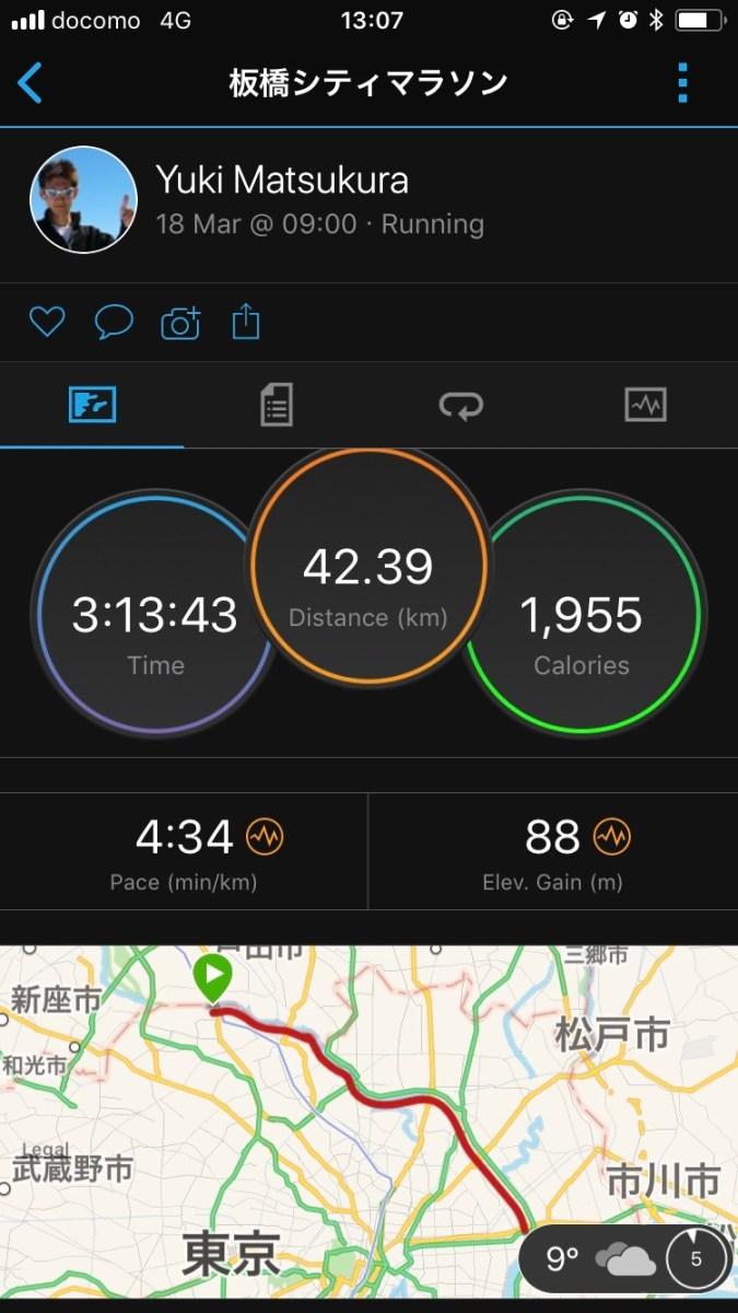 板橋Cityマラソン完走 (3時間13分)