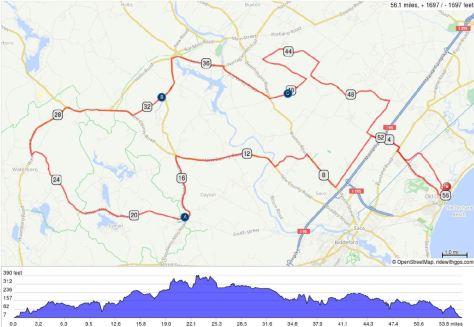 IronMan 70.3 Maine - Race insights - Bike course