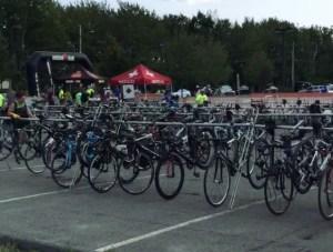 IronMan 70.3 Maine - Race insights - Transition area